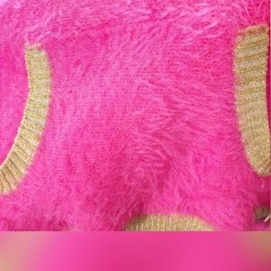 Juicy Couture Sweaters - Juicy Couture Sz M Pullover Fuzzy Sweater Hot Pink